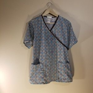 SB Scrubs printed top